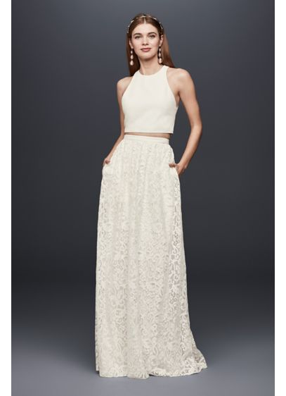 Long Separates Casual Wedding Dress - DB Studio