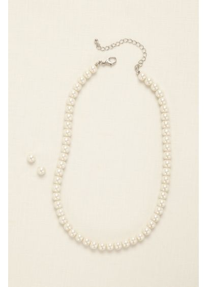 Classic Pearl Necklace and Earring Set - Wedding Accessories