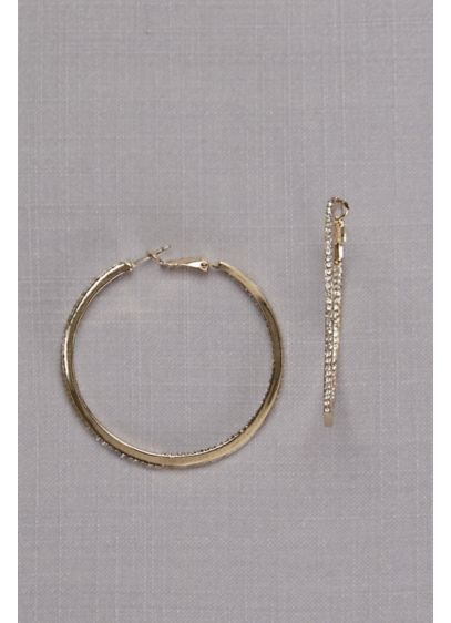Crystal-Traced Hoop Earrings - Wedding Gifts & Decorations