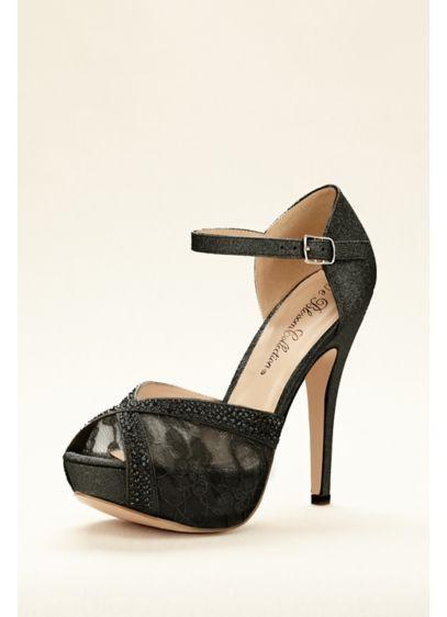 Blossom Grey (Embellished Lace Platform Sandal)