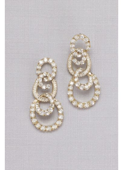 Crystal Circle Quartet Earrings - Wedding Accessories