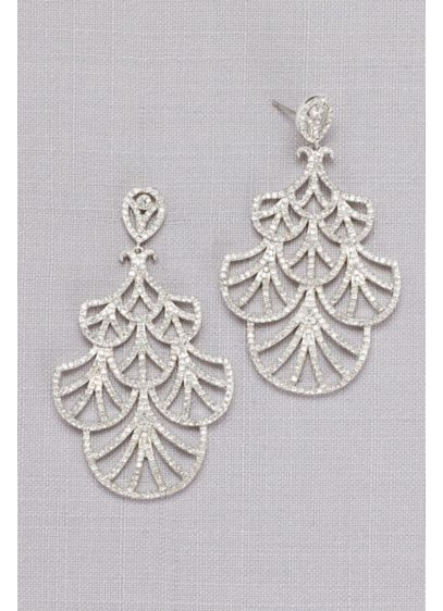 Mini Crystal Fan Earrings - Wedding Accessories