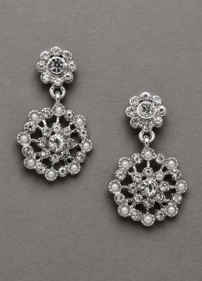 Pearl and Crystal Earrings E132377