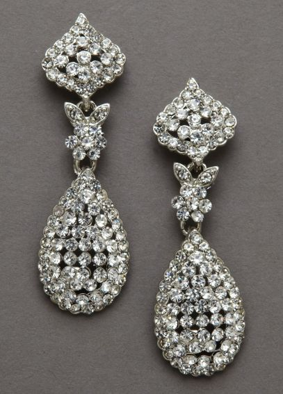 Tear Drop Crystal Swing Earrings E15235RHX