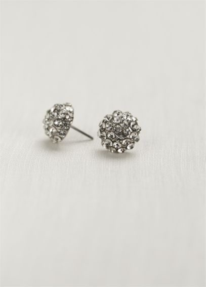 Pave Crystal Ball Earring E54064
