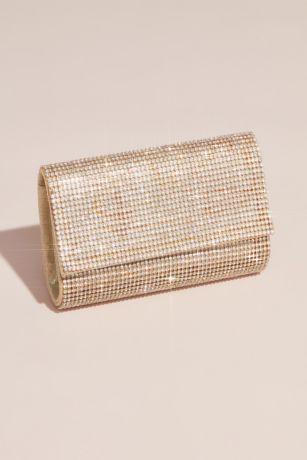Crystal mesh clutch