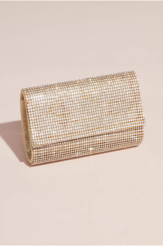 Crystal Mesh Clutch - Hundreds of round crystals form a glittering meshwork