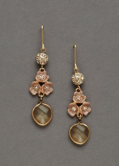 Dangle Enamel Flower Earrings E6473