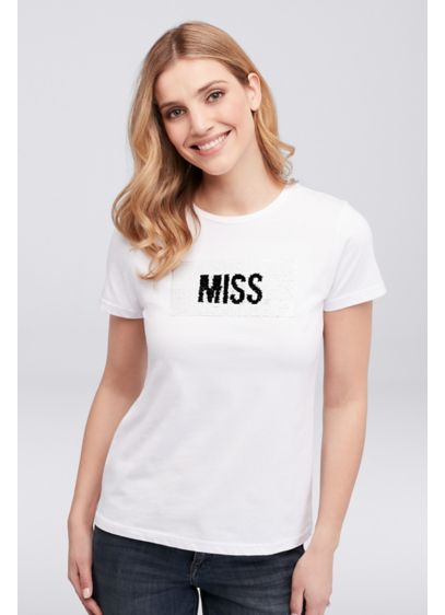 Miss to Mrs. Flip Sequin Tee - Wedding Gifts & Decorations