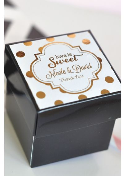 Personalized Metallic Foil Cube Boxes Set of 12 EB1025FW