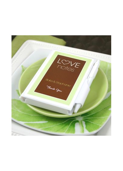 Personalized Love Notes White Notebook Favors - Wedding Gifts & Decorations