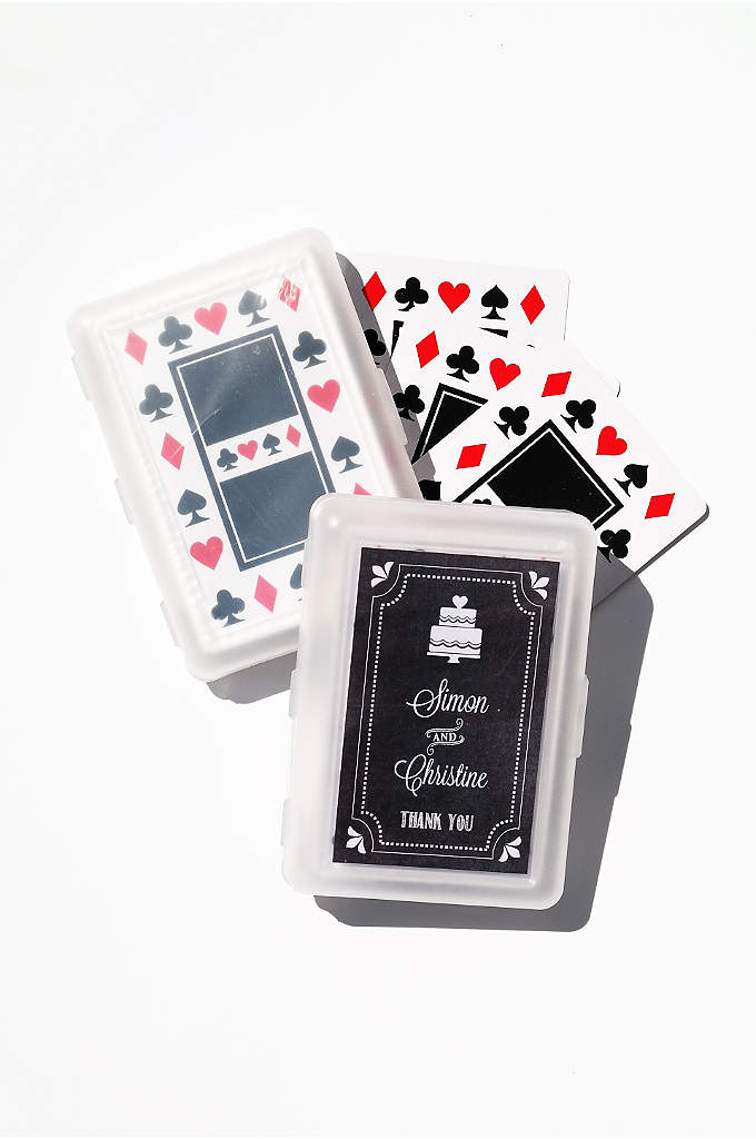 Chalkboard Wedding Personalized Playing Cards - Play your cards right by giving your guests