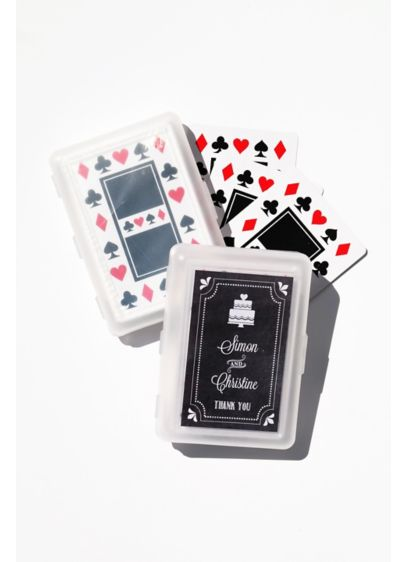 Chalkboard Wedding Personalized Playing Cards - Wedding Gifts & Decorations