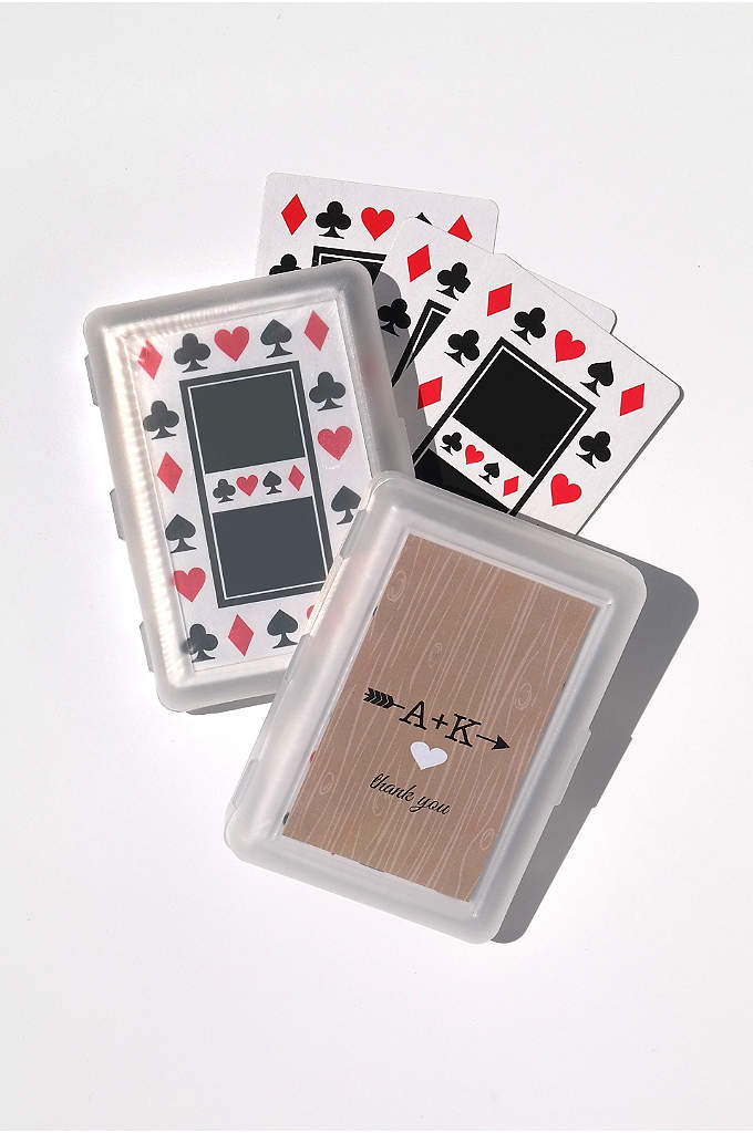 Personalized Initials Vintage Playing Cards - Your wedding guests will be thrilled to take