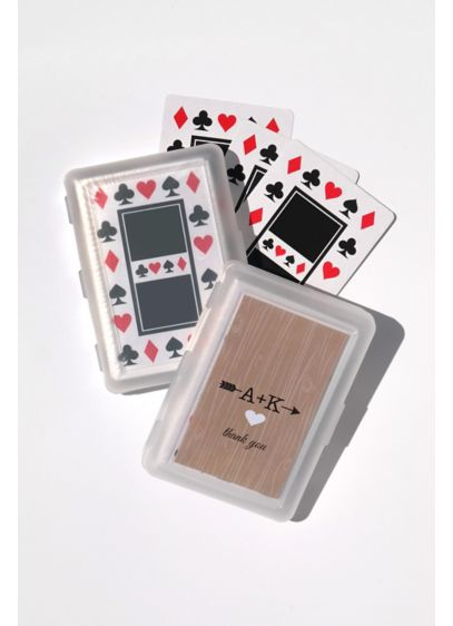 Personalized Initials Vintage Playing Cards - Wedding Gifts & Decorations