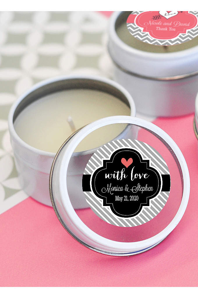 Personalized Theme Round Candle Tins - These compact candles can help set the mood