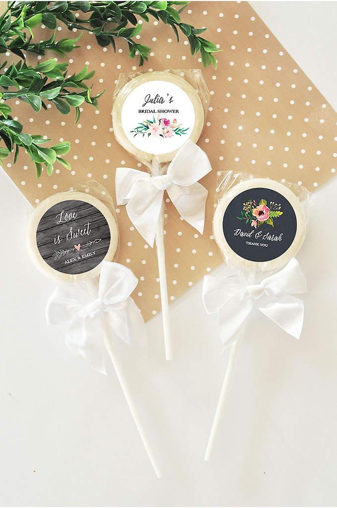 Personalized Floral Garden Lollipops - Personalized Floral Garden Lollipops will be a delicious