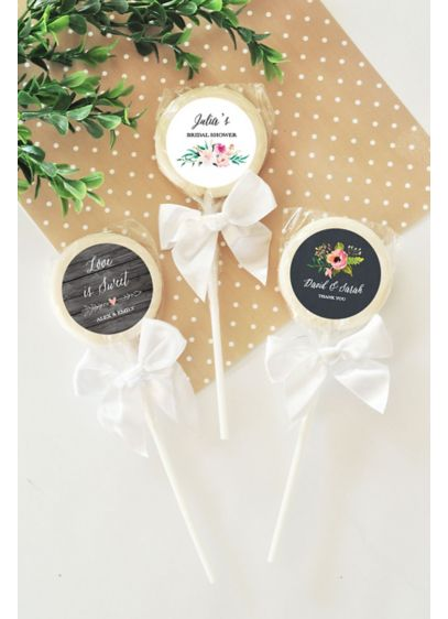 Personalized Floral Garden Lollipops - Wedding Gifts & Decorations