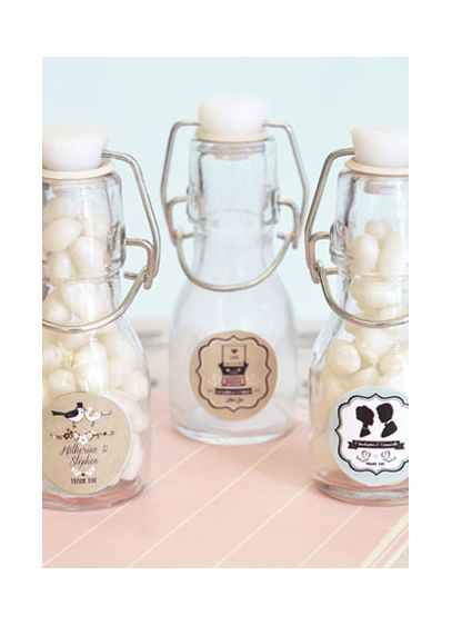 Personalized Vintage Wedding Mini Glass Bottles - Wedding Gifts & Decorations