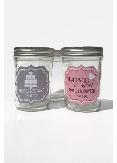 Personalized Wedding Mini Mason Jars EB2310PW
