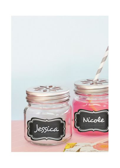 Mason Drinking Jars with Vinyl Chalkboard Labels EB2311CL