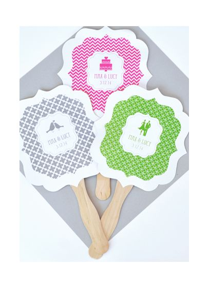 Personalized MOD Theme Paddle Fans - Wedding Gifts & Decorations