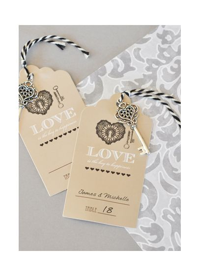 Key to Happiness Escort Card - Wedding Gifts & Decorations