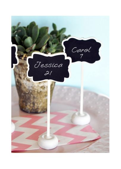 Framed Chalkboard Place Card Stands EB2374