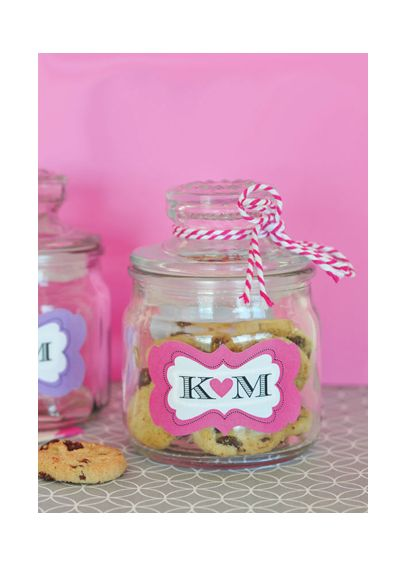Personalized Mini Cookie Favor Jars EB2393P
