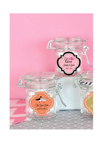 Personalized Theme Glass Jar with Swing Top Lid EB3023T