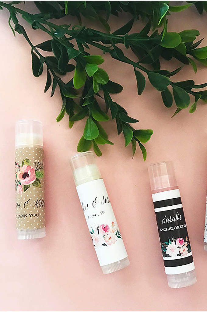 Personalized Floral Garden Lip Balm Tubes - Bridal shower guests will love taking home these