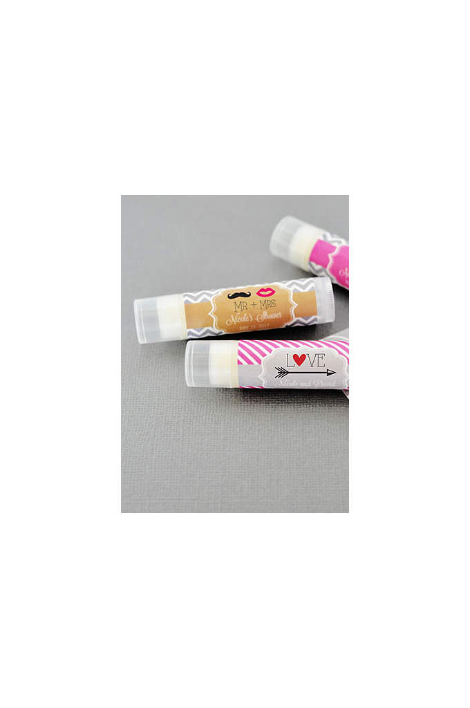 Personalized Theme Lip Balm Tubes - Send off your wedding guests with these Personalized