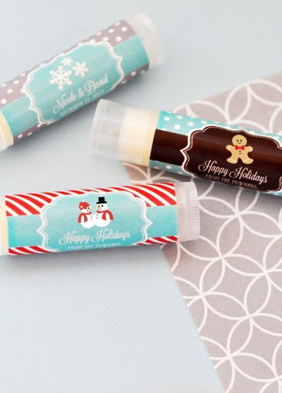 Personalized Winter and Snowflake Lip Balm Tubes EB3031W