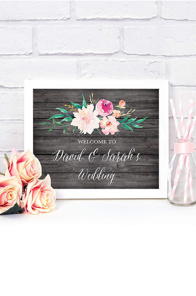 Personalized Floral Garden Wedding Sign - Complete your wedding or bridal shower decor with