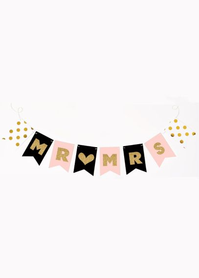 Mr and Mrs Glitter Banner EB3062MRS