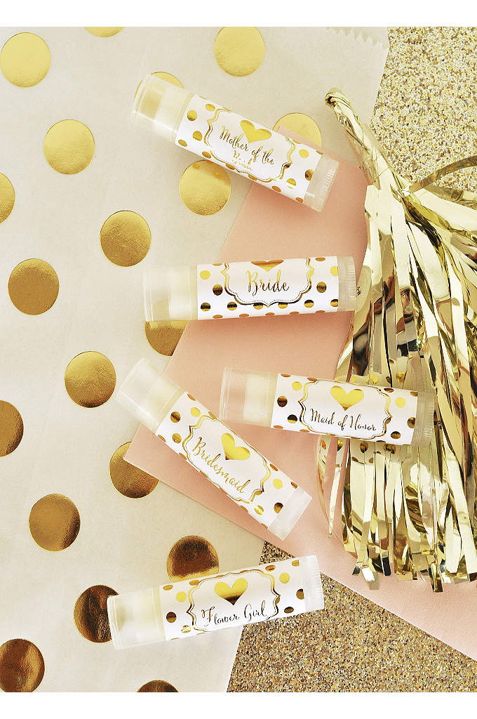 Bridal Party Lip Balm Set of 12 - A pretty gift for your bridal party! These