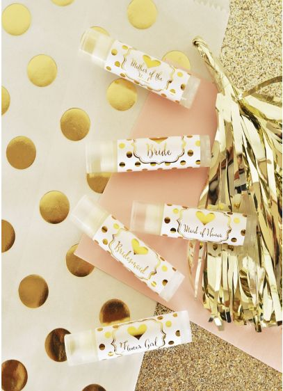 Bridal Party Lip Balm Set of 12 - Wedding Gifts & Decorations