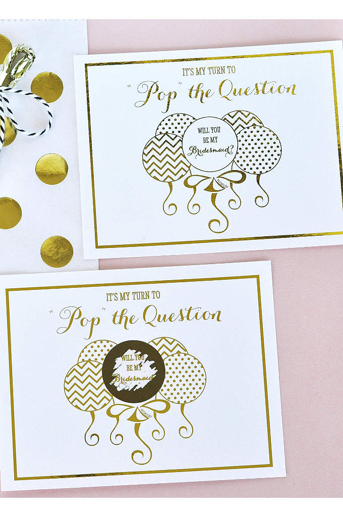 Pop The Question Bridesmaid Cards Set of 8 -