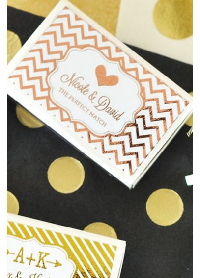 Foil Personalized Wedding Match Boxes Set of 50 EB3101FW