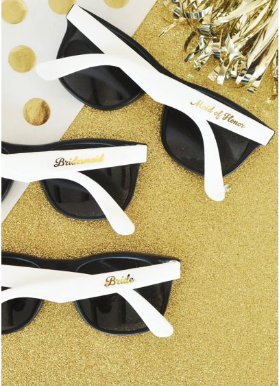 White Bridal Party Sunglasses Set of 6 - Wedding Gifts & Decorations