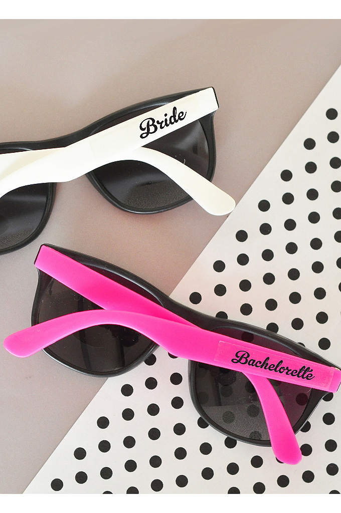 Bachelorette Party Sunglasses Set of 6 - Be the hottest bachelorette party this year with