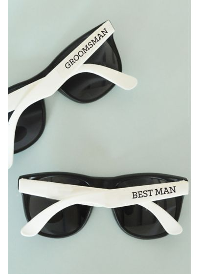 (White Groom and Groomsmen Sunglasses Set of 6)