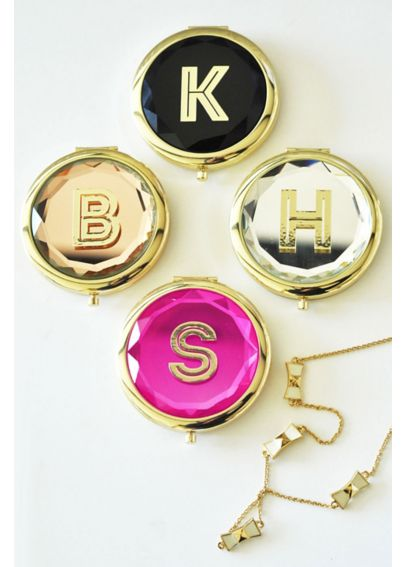 Personalized Gold Monogram Compact Mirror EB3137