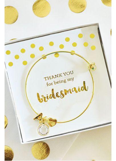 Personalized Gold Monogram Bracelets - Wedding Gifts & Decorations