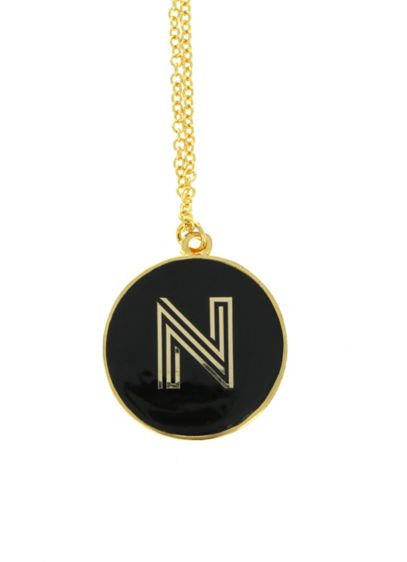 Personalized Gold Monongram Necklace - Wedding Gifts & Decorations