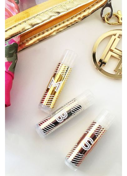 Personalized Monogram Foil Lip Balm Set of 8 - Wedding Gifts & Decorations