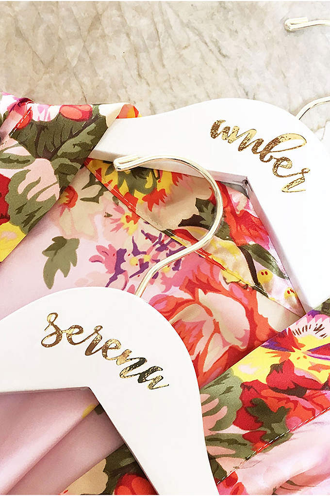 Personalized Flower Girl White Wooden Hanger - Make sure the flower girl feels included with
