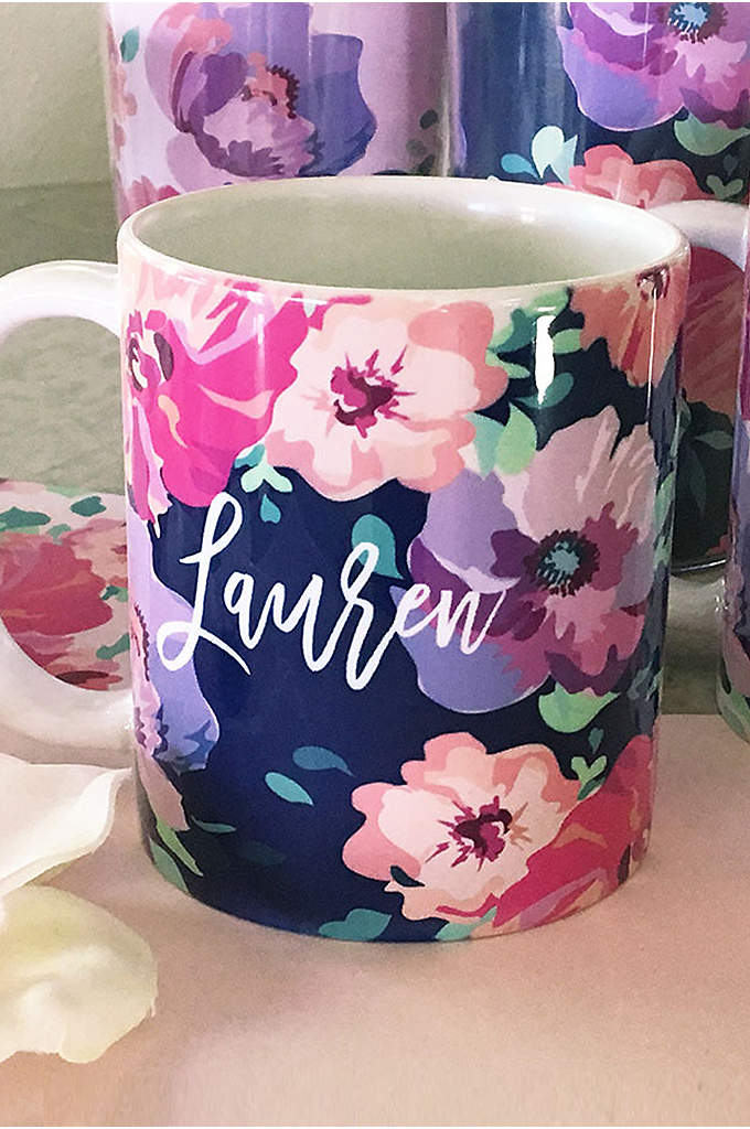 Personalized Floral Coffee Mug - A gift that is both beautiful and practical,