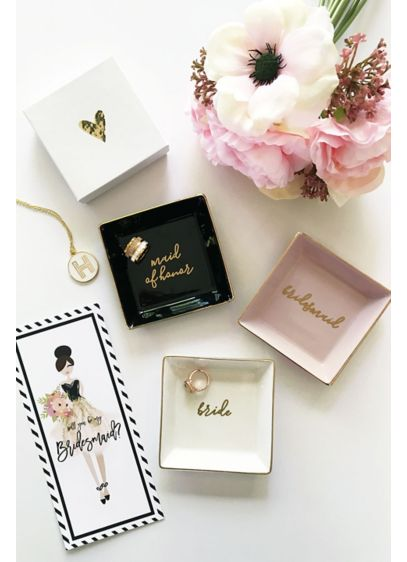 Bridal Party Ring Dish - Wedding Gifts & Decorations