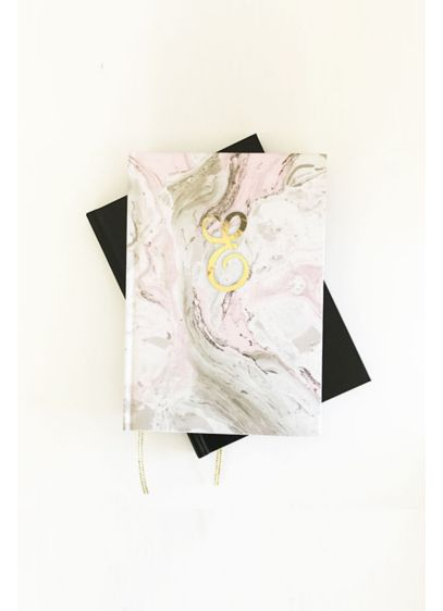 Personalized Pink Marble Monogram Journal - Wedding Gifts & Decorations